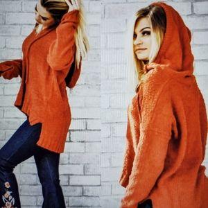Hoodie rust colweor sweater by very j N.W.t.